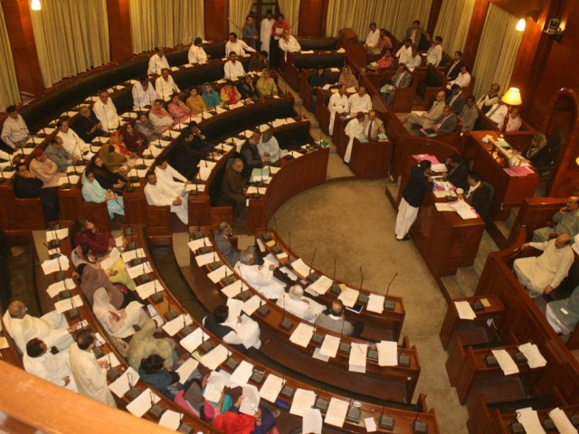 The first person to speak from the treasury benches was MQM's Khalid Iftikhar. PHOTO: IRFAN ALI/EXPRESS/FILE