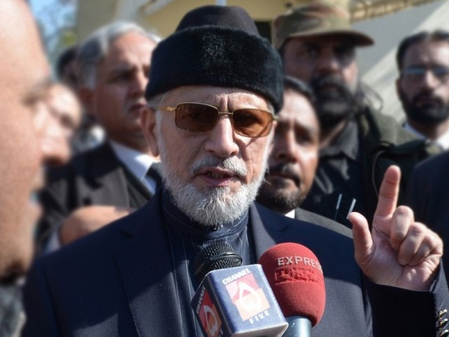 Pakistan Awami Tehreek chief Allama Tahirul Qadri.  PHOTO: AFP