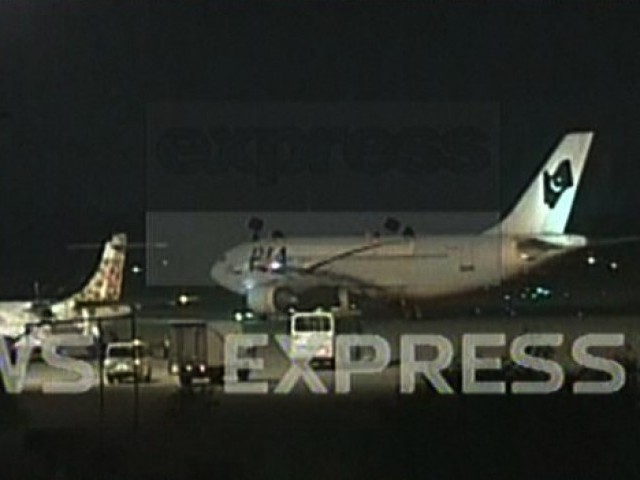 Around 178 passengers were onboard PIA flight from Riyadh. PHOTO: EXPRESS