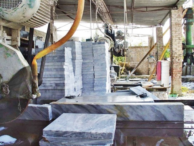 A marble factory in Swat. PHOTO: FILE
