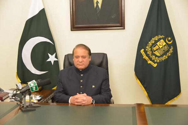 Prime Minister Nawaz Sharif addressing the nation. PHOTO: Twitter @hinaparvezbutt