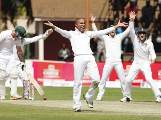 Piedt's haul beat the previous best debut figures of seven for 189 by Ian Smith against England in 1947. PHOTO: AFP