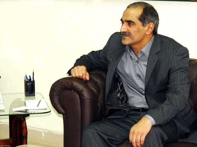 Minister for Railways Khwaja Saad Rafique. PHOTO: PID