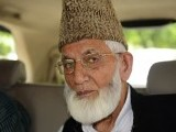 All Parties Hurriyat Conference's senior leader Syed Geelani calls New Delhi's decision to call off talks undemocratic. PHOTO: AFP