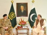 Prime Minister Nawaz Sharif in a meeting with COAS General Raheel Sharif at the PM House. PHOTO: PID.GOV.PK
