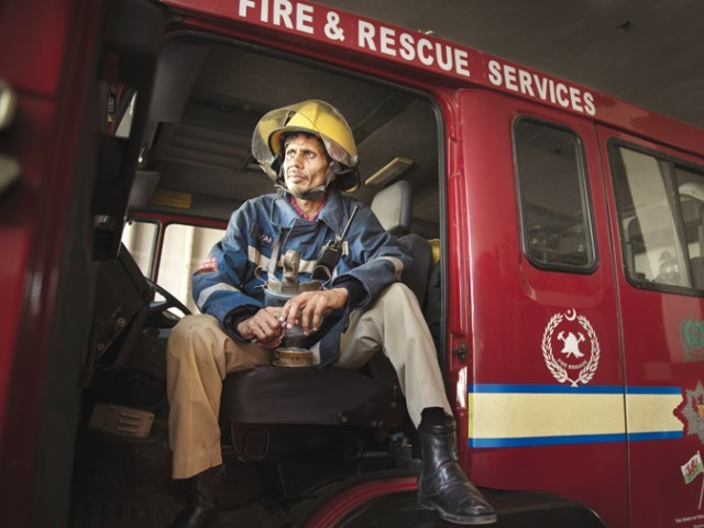 Sharmeen Obaid Chinoy's documentary features the lives of a firefighter, a polio worker, emergency ward staff, a journalist and an official of the bomb disposal squad. These people risk their lives each day to help others. PHOTO COURTESY: SOC FILMS