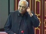 Express News screengrab of Senator Mir Hasil Bizenjo addressing the joint session of Parliament.