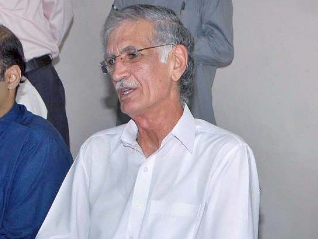 K-P Chief Minister Pervez Khattak. PHOTO: APP