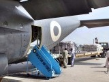 PAF dispatches a C-130 loaded with relief goods to flood affected areas. PHOTO: APP