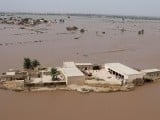 An aerial view of a flooded area in Muzzafargarh, Punjab, September 14, 2014. PHOTO: REUTERS