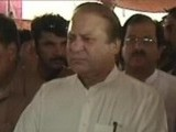 Express News screengrab of Prime Minister Nawaz Sharif in Jalalpur Bhattian.