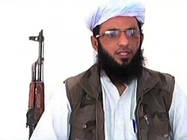 """We have decided to give up militancy in Pakistan. I've taken the decision in the best interests of Islam and the nation,"" Punjabi Taliban chief Asmatullah Muaweya. PHOTO: SCREENGRAB"