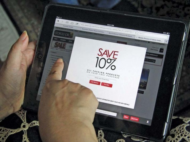 Major e-commerce portals witnessed between 15% and 30% year-on-year growth in sales last year. PHOTO: AYESHA MIR/EXPRESS