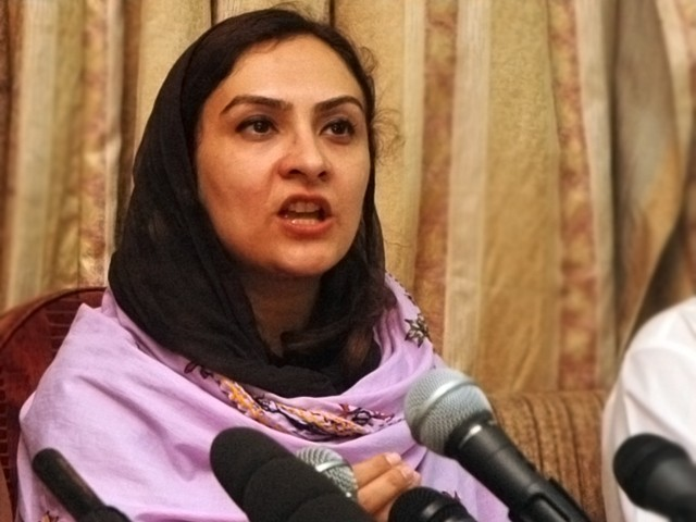 PML-N MNA Marvi Memon. PHOTO: EXPRESS