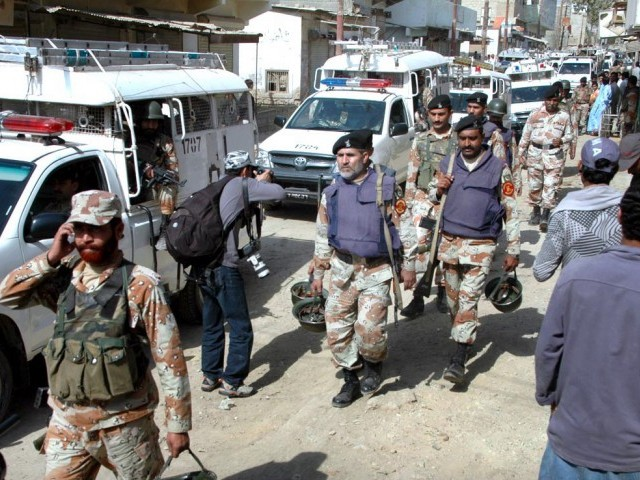 A file photo of Rangers personnel during a raid. PHOTO: APP