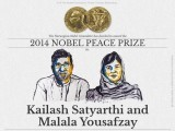 Joint winners of the 2014 Nobel Peace Prize. PHOTO: @NobelPrize