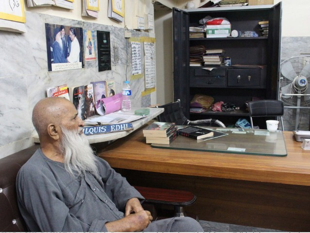 """The money and gold stolen belonged to those who entrusted me with it,"" says philanthropist Abdul Sattar Edhi. PHOTO: PPI"