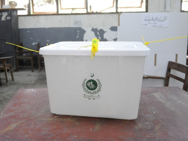 The by-election was earlier to be held on September 26 but was rescheduled by the Election Commission of Pakistan (ECP) due to floods..  PHOTO: MOHAMMAD NOMAN/EXPRESS