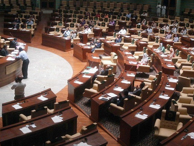 Food, MPAs will agree, was an essential part of Monday's Sindh Assembly session. PHOTO: NNI