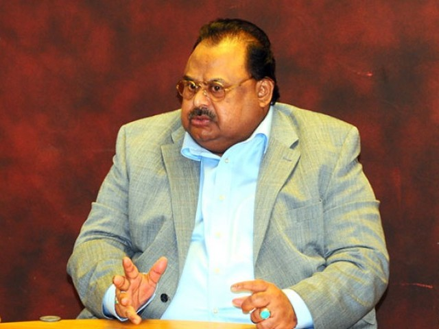 """You can find flags of this organisation right from Sadiqabad (southern) Punjab to Islamabad,"" MQM chief Altaf Hussain. PHOTO: MQM"