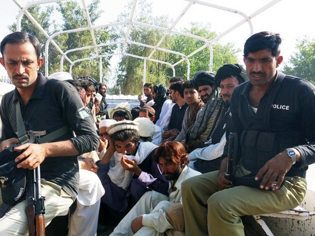 SP Khan added that a probe against the IDPs accused of throwing stones at police officials is currently underway. PHOTO: ONLINE