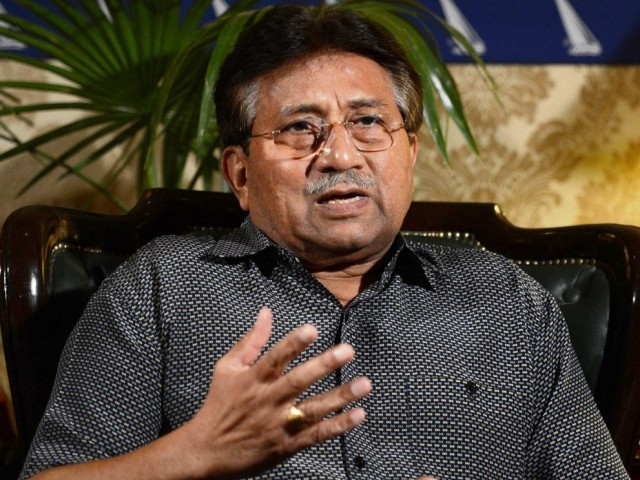 A file photo of former president General (retd) Pervez Musharraf. PHOTO: AFP