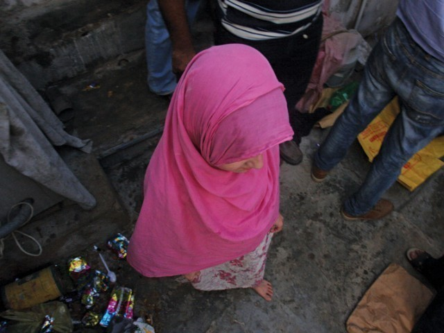 The girls were taken into custody by the provincial government and were kept at a shelter home of the Sindh Social Welfare Department. PHOTO: ATHAR KHAN/EXPRESS