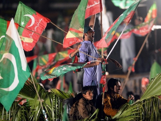 The AJIP chief said he has no personal grudge with the PTI leadership but would stand by his party workers if they decided to part ways with the PTI. PHOTO: AFP