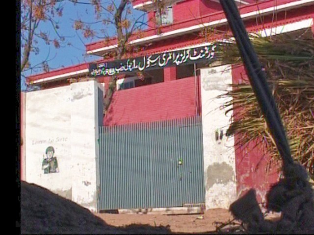 Government Girls Primary School Chawki Darab in Nowshera has been locked, depriving 400 girls of an education. PHOTO: EXPRESS