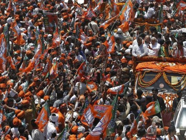 BJP supporters. PHOTO: REUTERS