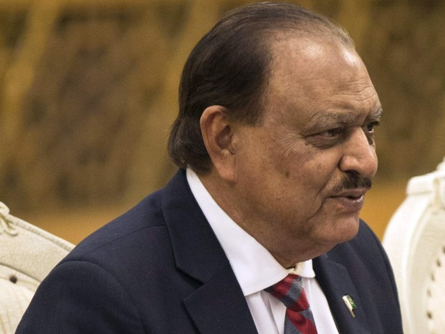 President Mamnoon Hussain. PHOTO: AFP