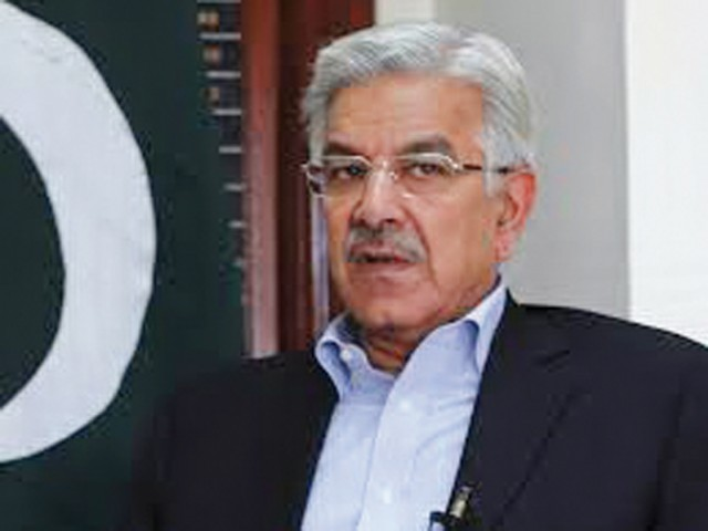 Defence Minister Khawaja Asif. PHOTO: FILE