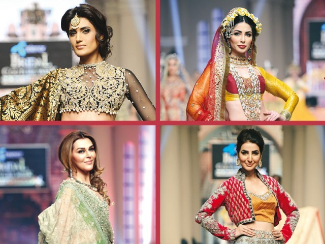 Solid colours, sheer overlay patterns, jackets and separates dominated the ramps at Telenor Bridal Couture Week 2014. PHOTOS: FILE