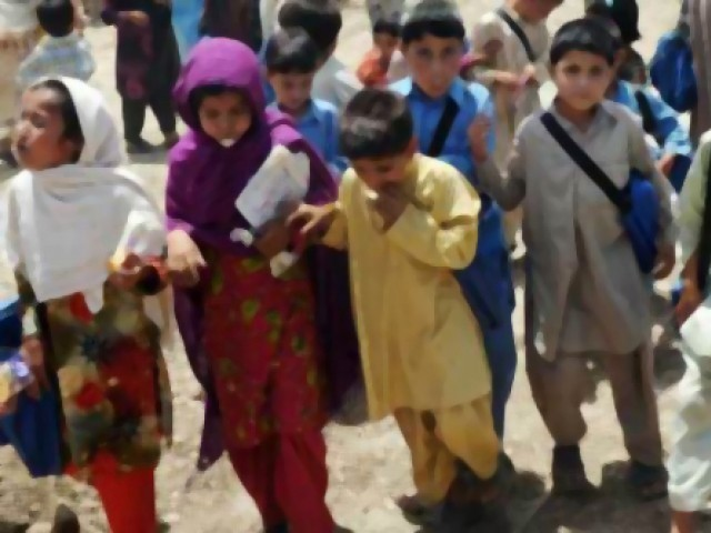 Child Protection and Welfare Bureau Officer Ali Abid Naqvi said the children had been taken in after they were found begging or collecting scrap from various parts of the city. PHOTO: AFP
