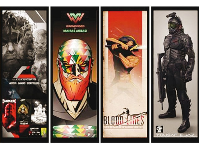 The two-day event will exhibit the works of some of the best digital and comic book artists from Pakistan. PHOTO: PUBLICITY