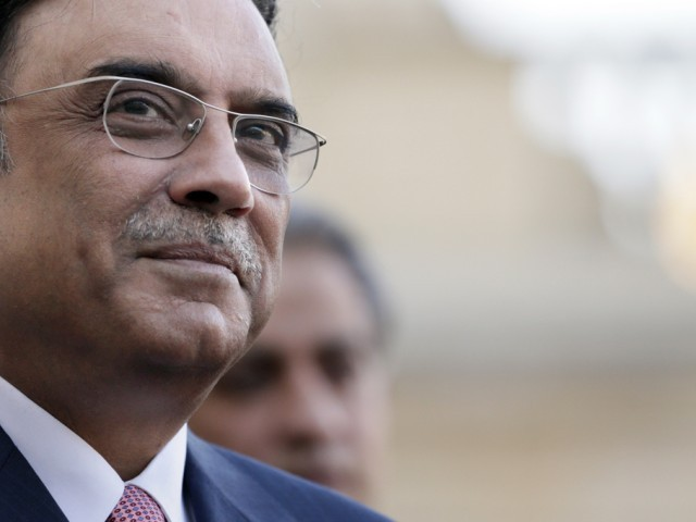 A file photo of former president Asif Ali Zardari. PHOTO: AFP