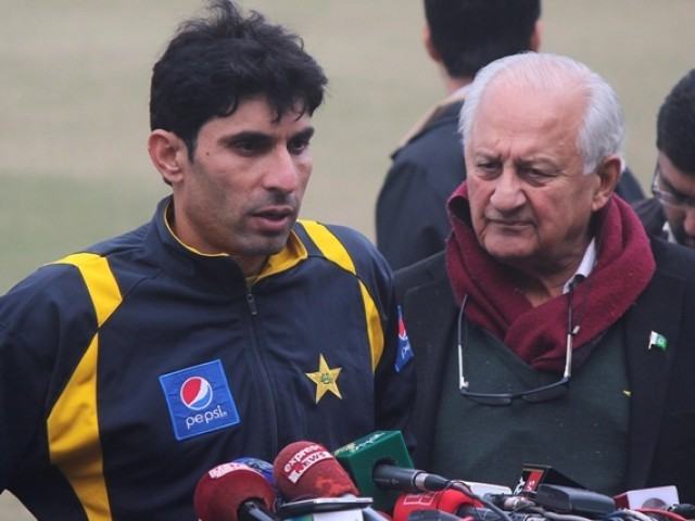 NO COMPLACENCY: According to the skipper, the retirement has given him extra motivation to give his best at the World Cup, contrary to the general perception that there will be no pressure on Misbah to perform. PHOTO: SHAFIQ MALIK/EXPRESS