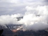 Clouds cover the Murree valley. PHOTO: ONLINE