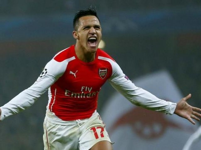 HIGH ON CONFIDENCE: Arsenal's Alexis Sanchez is the Gunner's top goalscorer this season with 12 goals in the Premier League and 18. PHOTO: REUTERS