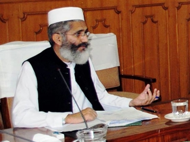 Demands that UN make laws against sacrilege of all religious personalities. Jamaat-e-Islami chief Sirajul Haq. PHOTO: INP