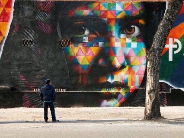 """Peace"" Mural by Eduardo Kobra in Rome, Italy. PHOTO: COMMUNITY.MALALA.ORG"