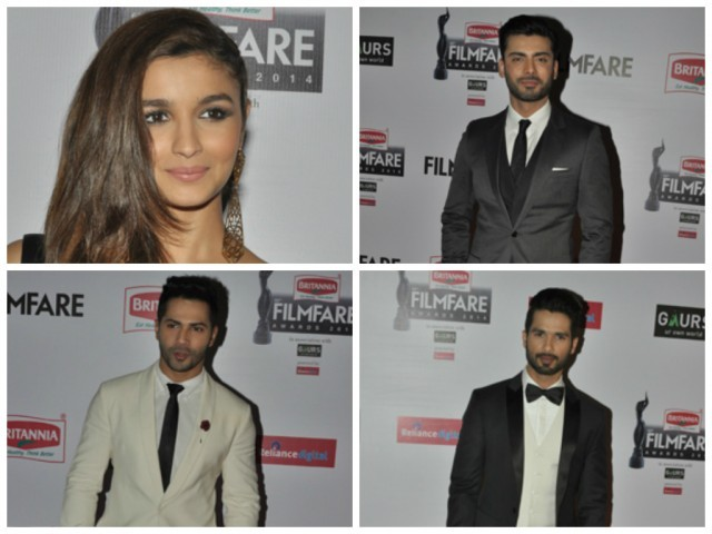 Alia, Fawad, Varun and Shahid stun on the red carpet. PHOTOS: FILMFARE