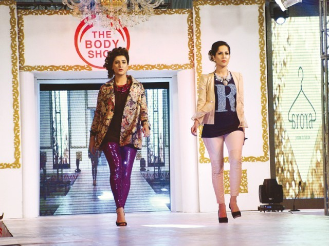 The ramp walk was choreographed by Serena Sherin Khan, who also conceptualised the looks with the designer and makeup artist. PHOTO: Huma Choudhary