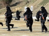 Policewomen demonstrate their skills during a special elite police training course in Khyber Pakhtunkhwa. PHOTO: AFP