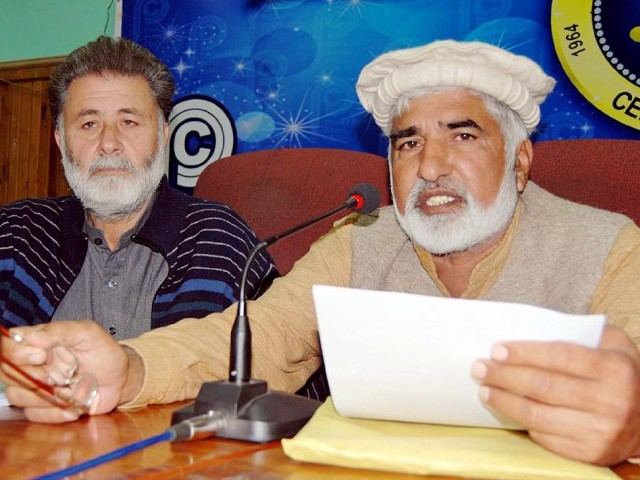 """We asked the government to ensure promotions, hold elections for official teachers' bodies, have a quota for sons of deceased teachers and to reserve an allowance other than salary,"" said ATCC General Secretary Muzammil Khan Tarnabi. PHOTO: NNI"