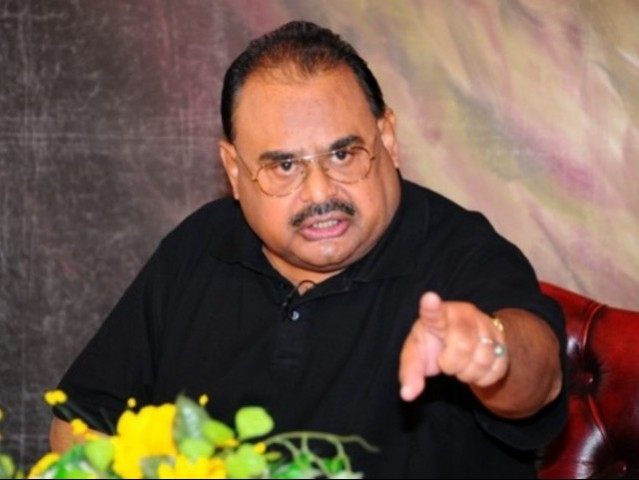 MQM chief Altaf Hussain. PHOTO: MQM