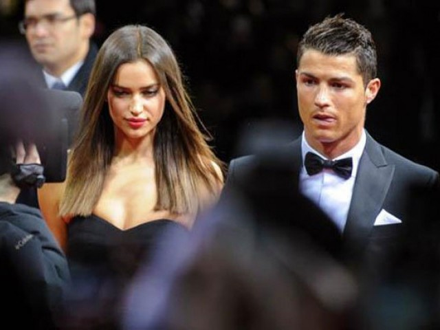 The 29-year-old model split from the Real Madrid football player this January after five years. PHOTO: AFP