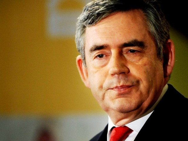 Former British Prime Minister Gordon Brown, who is the UN Special Envoy for Global Education. PHOTO: AFP
