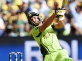 Pakistani batsman Shahid Afridi plays a shot during the 2015 Cricket World Cup quarter-final match between Australia and Pakistan in Adelaide on March 20, 2015. PHOTO: AFP