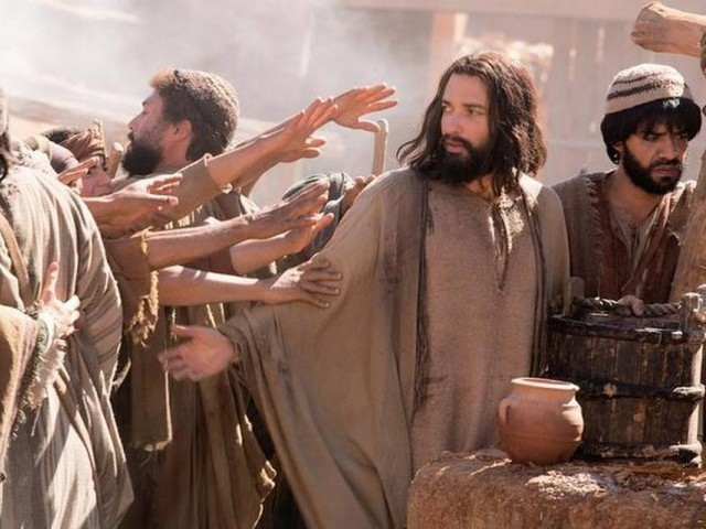 "Haaz Sleiman  plays Jesus in National Geographic Channel's ""Killing Jesus"". PHOTO: KENT EANES/NATIONAL GEOGRAPHIC CHANNELS"